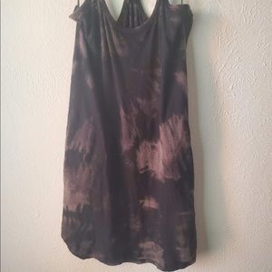 ATM Anthony Thomas Melillo Dresses - ATM Tie Dye Trapeze Black Gray Tank Dress Small